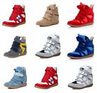 6 Colors Womens High Top Strap Concealed Wedge Sneakers Shoes/Ladies Ankle Boots