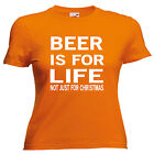 Beer Is For Life Novelty Ladies T Shirt