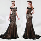 2014 Vintage Women Lace Long Formal Ball Cocktail Prom Party Dress Evening Gown