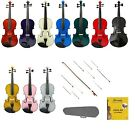 NEW VIOLIN & Matching Color BOW+EXTRA Natural Color Bow~Student Beginner Kid