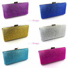 Wedding Prom Party Sparkly Diamante Effect Evening Clutch Bag Purse Handbag
