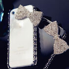 3D Handmade Bling Crystal Diamond Bow Rhinestone Case Cover for iPhone 4/4s/5/5s
