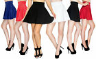 Summer Stretchy Flared Skater Skirt High Waist and Pleated Casual Mini Skirt