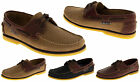 Mens Leather SEAFARER Formal Smart Work Casual Lace Up Boating Flats Deck Shoes
