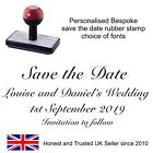 WEDDING RUBBER STAMP PERSONALISED,SAVE THE DATE (11618)  ENGAGEMENT,CELEBRATION