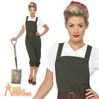 WW2 1940s Land Girl Womens Army World War 2 Fancy Dress Costume Size UK 8 - 26