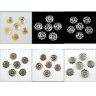 7mm 9mm Filigree Flower End Bead Caps Gold Silver Bronze Copper Dull Silver etc.