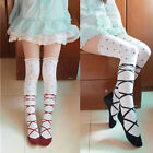 Women Girl Cute Ballet Shoe Lolita Stocking Knee Thig-hhigh Sock Dance Cosplay