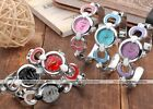 1pc Multi Color Elegant Round Case Quartz Analog Wrist Band Cuff Watch Bracelet