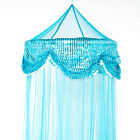 OctoRose hoop with sequins bed canopy mosquito net fit all size bed many color image