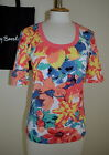 BETTY BARCLAY 100% Cotton Coral T SHIRT TOP 0649 Size 10 12 14 16 18 20 36-46