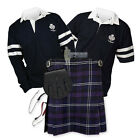 SPORTS KIT ESSENTIAL KILT OUTFIT - 2- STRIPE RUGBY TOP - HERITAGE OF SCOTLAND