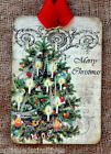 Hang Tags  VINTAGE STYLE MERRY CHRISTMAS TREE TAGS or MAGNET #425  Gift Tags