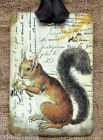 Hang Tags  FRENCH AUTUMN  SQUIRREL TAGS or MAGNET #77  Gift Tags