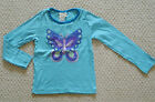 Mini Boden Long Sleeved T-shirt Top Age 3-14 Years Sequin Butterfly NEW