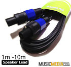 Speaker to Speaker Plug 2 Pole Lead Cables DJ Connectors Amp PA System all sizes
