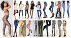 New Women's Sexy Stripe Stud Skull Leggings Stretchy Jeggings Pencil Tights 6-12