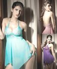 Ladies Sexy Night Dress Babydoll Chemise -Lingerie+ FREE G-String Knickers 8-12