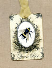Hang Tags  QUEEN BEE HONEY BEE TAGS or MAGNET #303  Gift Tags