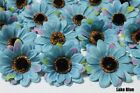 25X 50X  3 inch Artificial Silk Sunflower Daisy Flower Heads Wholesale Lots F36