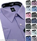 Mens BIG sizes Cotton Shirt Striped Formal Casual short sleeve 3XL - 8XL