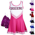 Cheer leader Robe/jupe debardeur Pompom girl fille girl XS 14-16 ans deguisement