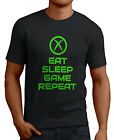 Eat Sleep Game Repeat X Box 360 Gamers Funny T-Shirts 14 Colors All Sizes.