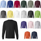 Hanes Long Sleeve Beefy T-Shirt Tee 30 Colors 100% Cotton Sizes S-3XL 5186