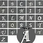A-Z INITIAL LETTER ALPHABET PENDANT CHARM NECKLACE CLEAR CRYSTALS STAINLESS HOT