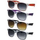 CLASSIC STYLISH WAYFARER STYLE SUNGLASSES CLEAR PERSPEX UV400 EYEWEAR PROTECTION