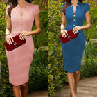 New Womens Celeb Pinup Bodycon Wear To Work Cocktail Shift Tunic Pencil Dress