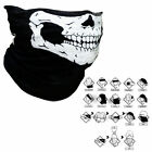 Bicycle Ski Skull Half Face Mask Ghost Cosplay Party War Game Neck Tube Warmer