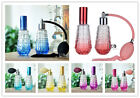 Set 2 Vintage Empty Refillable Glasses Perfume Spray Bottle Fragrance Atomizer