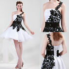 Lady New Bridesmaid Mini Cocktail Prom Party Evening Princess Floral Lace Dress