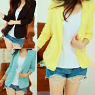 Womens Casual Long Sleeve OL Career Slim Suit Coats Blazer Jacket Outwear Sz S-L