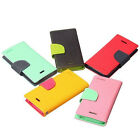 Mercury Fancy Diary Wallet Leather Case For Sony Xperia T2 Ultra HTC Desire 800