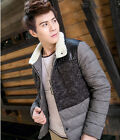 Men's Winter New Thick Cotton Padded Slim Jacket J671