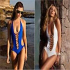 Monokini hollow-out Strapless Underwear Swim Multi-color Bathing Suit Set Bikini