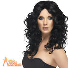 Wonder Woman Wig 80s Ladies Glamour Fancy Dress Outfit Wig Black
