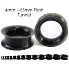 Black Silicone Flesh Tunnel Plug Stretcher Expander Double Flare Flexible Sizes