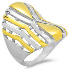 2-Tone Siver & Yellow Gold Plated Stainless Steel Ring (Availbale Size 6,7,8 9)