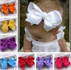 12pc Children Alligator Clip Ribbon Bow barrette Grosgrain Hair jewelry Hairband