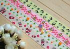 "1"",7/8"" Baby Kids Bees Calves Printed Grosgrain Ribbon hair Bow 5/10/20/50 Yds"