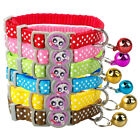 24pcs Whole sale Nylon Kitten Kitty Cat Collar with Bell Various Colors