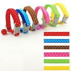 0.8cm Wide Nylon Small Puppy Kitten Kitty Cat Collar with Bell Variety of Colors