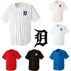 Detroit Tigers D Baseball Stripe Open Tshirts sports wear Jersey shirt Top