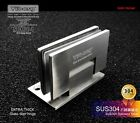 1Pair 90 degree SUS304#SS Wall-mount Frameless Shower Door Wall to Glass Hinge