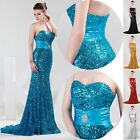 Women's Sexy Long Mermaid Sequins Prom Ball Evening Gown Party Bridesmaid Dress