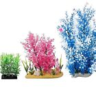 PLASTIC PLANTS - Fish Aquarium Plant Base Aqua Tank Ornament Decoration dm Pet