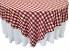 "10 Checkered Tablecloths 72""×72"" Square Overlays Polyester Gingham Buffalo Check"